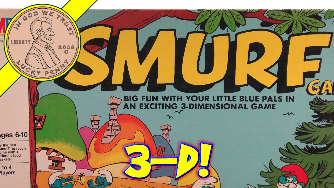 The Smurf 3-D Board Game – Milton Bradley, #4113 1981