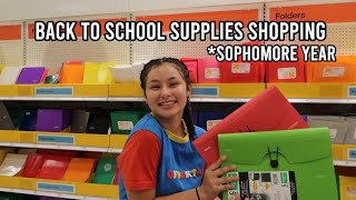 BACK TO SCHOOL SUPPLIES SHOPPING FOR SOPHOMORE YEAR! 2019