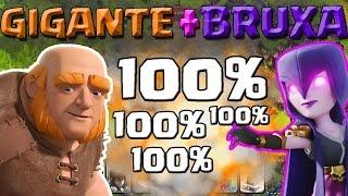 (1/2) COMO atacar com GIGANTE e BRUXA - ESTRATEGIA Clash Of Clans