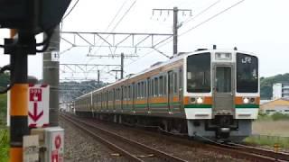 JR東海 大谷川踏切から電車7本 211系 311系 313系 373系