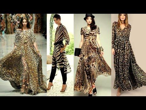 Stylish Tiger Print Kurti Design Tiger Print Latest Smart Collection Stylish Dress For Girls 