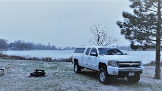 TRUCK CAMPING in FRËEZING WEATHER *SNOW!*