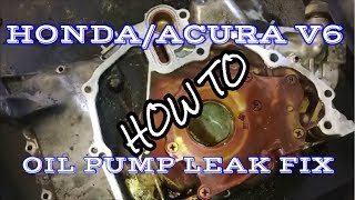 Oil Pump Reseal Honda/Acura V6- AlanFixedIt