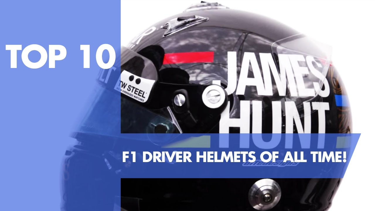 Top 10 F1 Driver Helmets Of All Time Youtube
