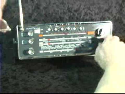 Nordmende Globetrotter Shortwave Radio.wmv
