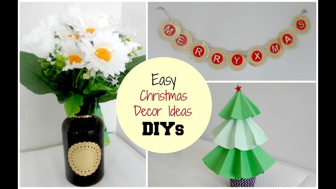 diy christmas home decor ideas x mas tree vase wall art hennaandnailart youtube