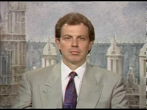 Tony Blair talking briefly about the recession 1992
