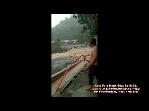 Banjir dan Lonsor di Paya Tumpi Aceh Tengah