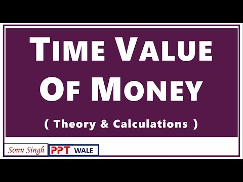 TIME VALUE OF MONEY IN HINDI | Theory & Calculation | Financial Management | BBA/MBA/Bcom | ppt