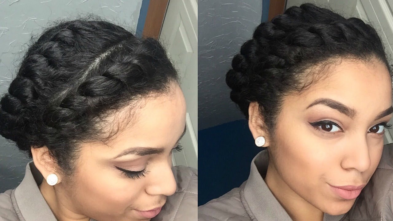 Quick Easy Protective Style Flat Twists Natural Hair Youtube