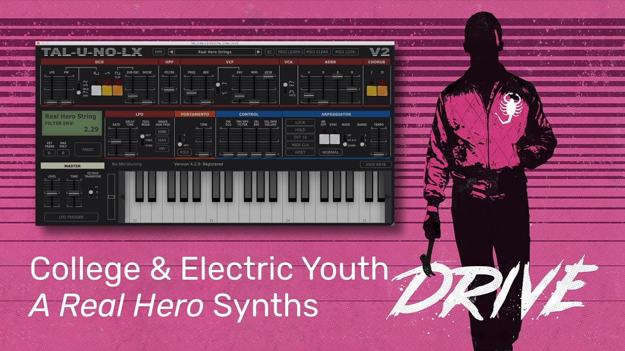 Download College & Electric Youth - A Real Hero (Instrumental Synth Remake)