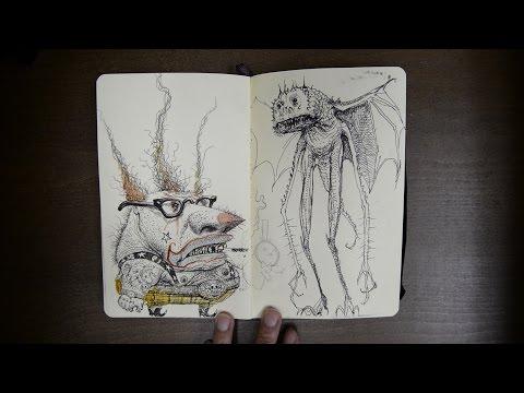 CGMA   Sketchbook Flipthrough   Clayton Stillwell