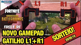 GAMEPAD has arrived (buttons L1 and R1)! Unboxing + triggers giveaway for PUBG, Free Fire, RoS, Fortnite