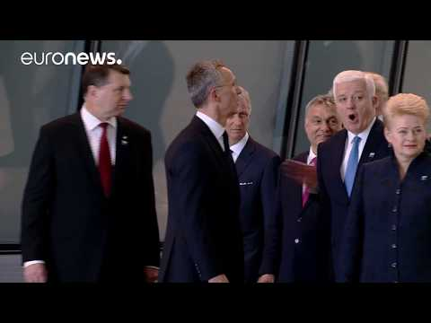 President Trump meets NATO and EU leaders in Brussels