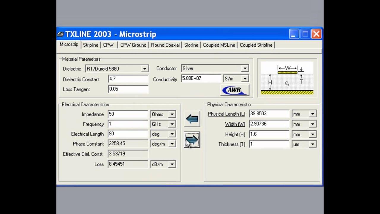 Microstrip 1 Design and Verification