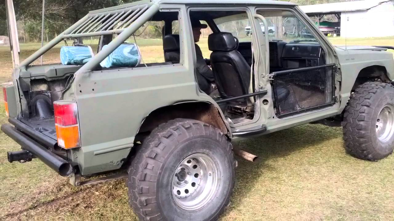 small resolution of chopped cherokee xj 4x4 cherry bomb exhaust