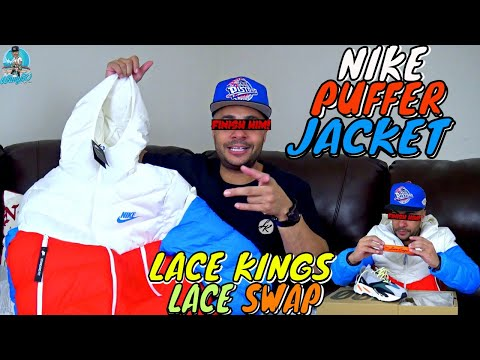 NIKE WIND RUNNER PUFFER JACKET UNBOXING REVIEW | YEEZY WAVE RUNNER LACE SWAP WITH LACE KINGS