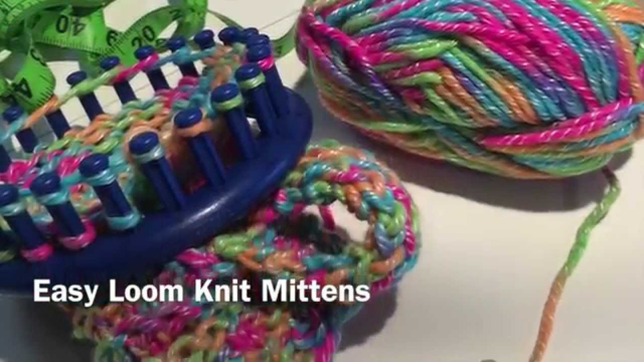 Easy loom knit mittens youtube bankloansurffo Choice Image
