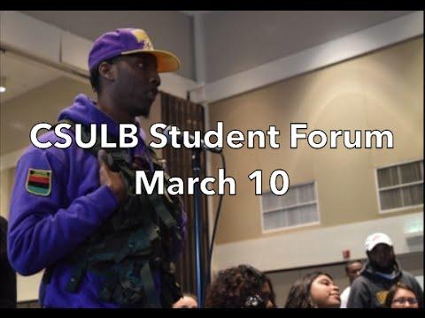CSULB Student forum: full periscope video