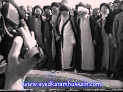 Ayatollah Khomeini Funeral Prayer Namaz with Aliunwaliullah led by Golpaygani