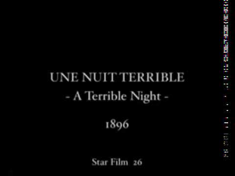 1896 Georges Méliès Une nuit terrible A Terrible Night Short movie court metrage Silent Muet