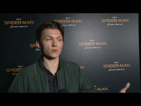 "Spider-Man: Homecoming: Tom Holland ""Peter Parker"" CinemaCon 2017 Movie Interview"