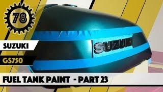 Cafe Racer Suzuki GS 750 Motorcycle Fuel Tank Paint 23
