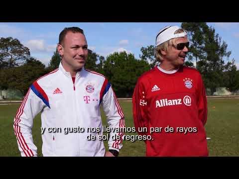 Interview mit Trainern des Fußballclubs Bayern München in der Deutschen Schule Guatemala