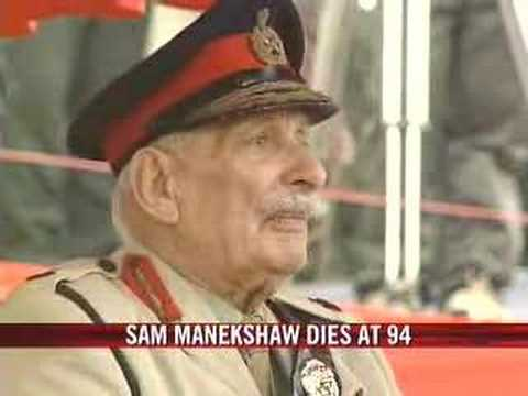 Field Marshal Manekshaw dies