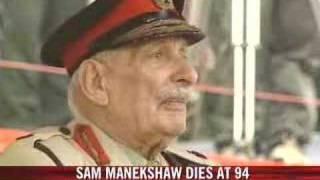 Field Marshal Manekshaw dies