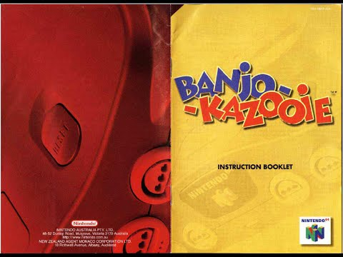 banjo kazooie game manual n64 instruction booklet youtube rh youtube com User Manual PDF Instruction Manual