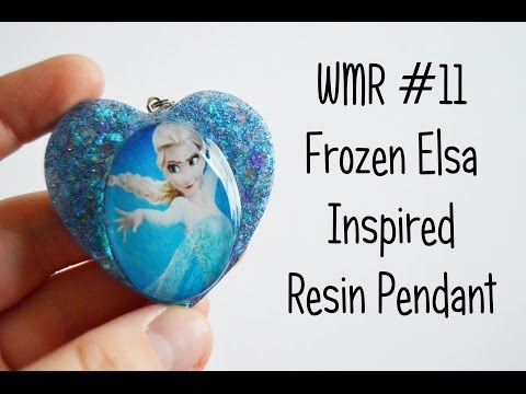 WMR #11 | Frozen Elsa Inspired Resin Pendant