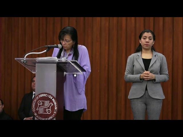 Discurso de la Ombudsperson capitalina, Nashieli Ramírez, en Disculpa Pública caso Carlos Sinuhe