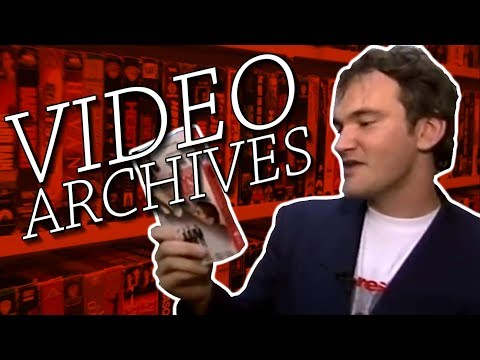 Quentin Tarantino  Visits Video Archives
