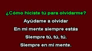 Industria Del Amor - Siempre En Mi Mente (Karaoke)