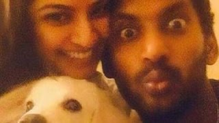 What this picture says - A dog, Vishal & Varalaxmi Sarathkumar