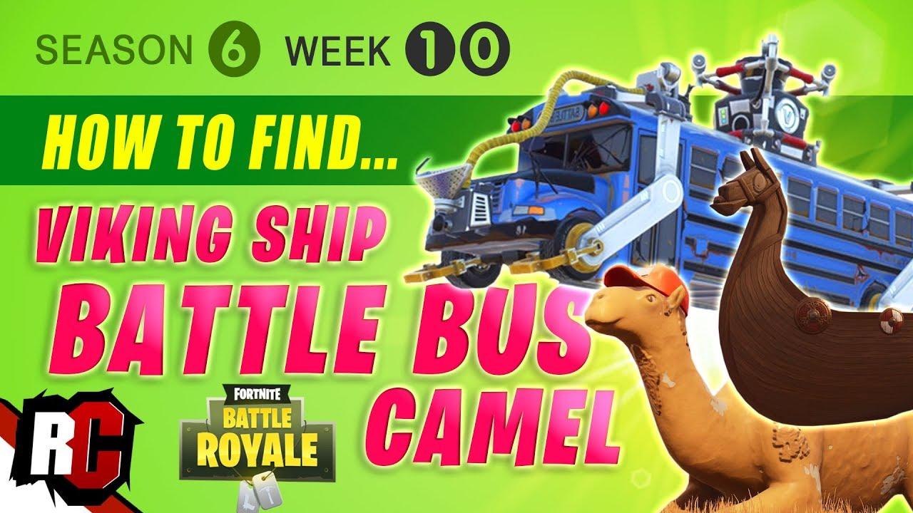 Fortnite Week 10 Visit A Viking Ship A Camel And A Crashed Battle
