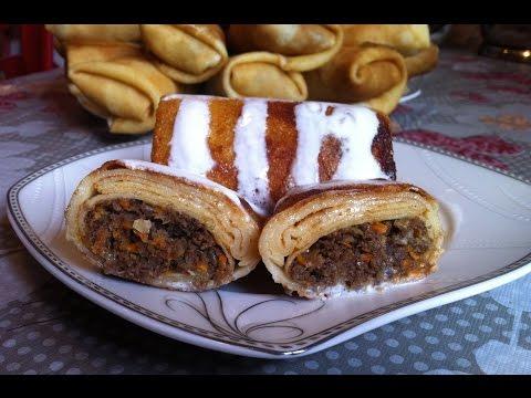 Блинчики с Птичьими Желудками / Pancakes With Liver / Простой Пошаговый Рецепт