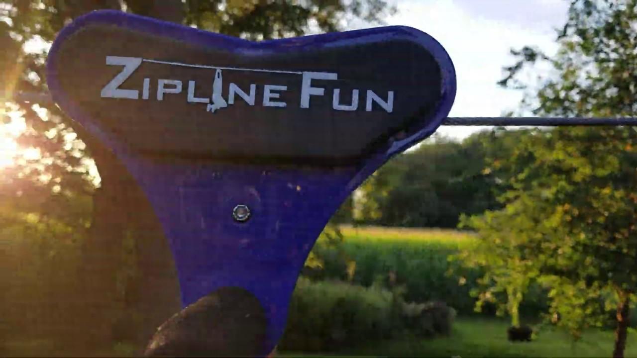 Backyard zip line without trees: Zip Line Fun 90 foot ...
