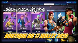 FORTNITE: Shop July 17, New styles available cheeky skins, nitescent, clutch