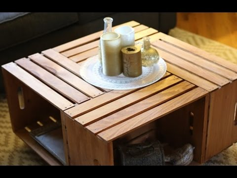 build a coffee table using crates furniture diy