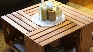 Build A Coffee Table Using Crates - Furniture DIY
