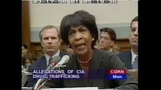 CIA Drug Trafficking Allegations Hearing (1998) | w/ Maxine Waters Gary Webb