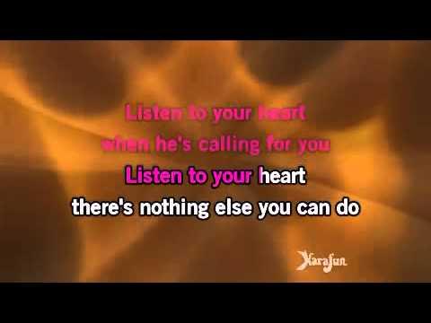 Karaoke Listen To Your Heart piano version)   D H T