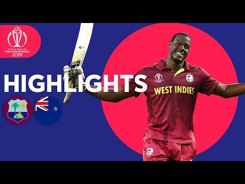 West Indies v New Zealand – Match Highlights | ICC Cricket World Cup 2019