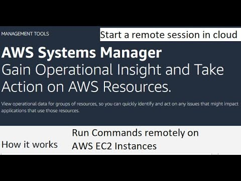 Run commands remotely on AWS EC2 servers | Start a remote session in Cloud  | AWS system manager