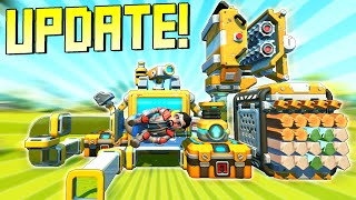 NEW UPDATE Brings Crafting to Creative Mode, and Powerful New Commands! - Scrap Mechanic Gameplay