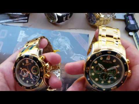 Relógio invictapro diver 0075modelo 2017 vs referência 21925 calibres 6371d e vd53