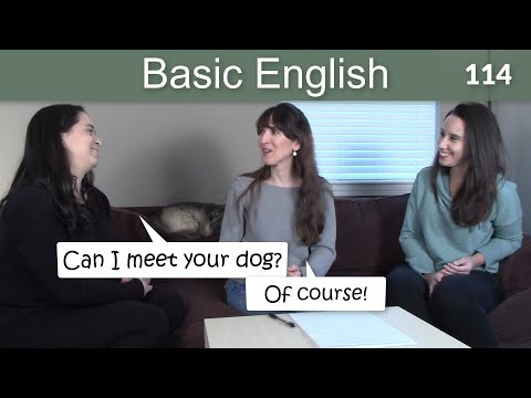 Lesson 114 ????? Can, Could & May - Basic English with Jennifer