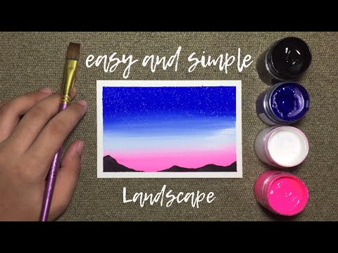 easy-and-simple-poster-color-landscape-painting-for-beginners!-•-step-by-step-tutorial